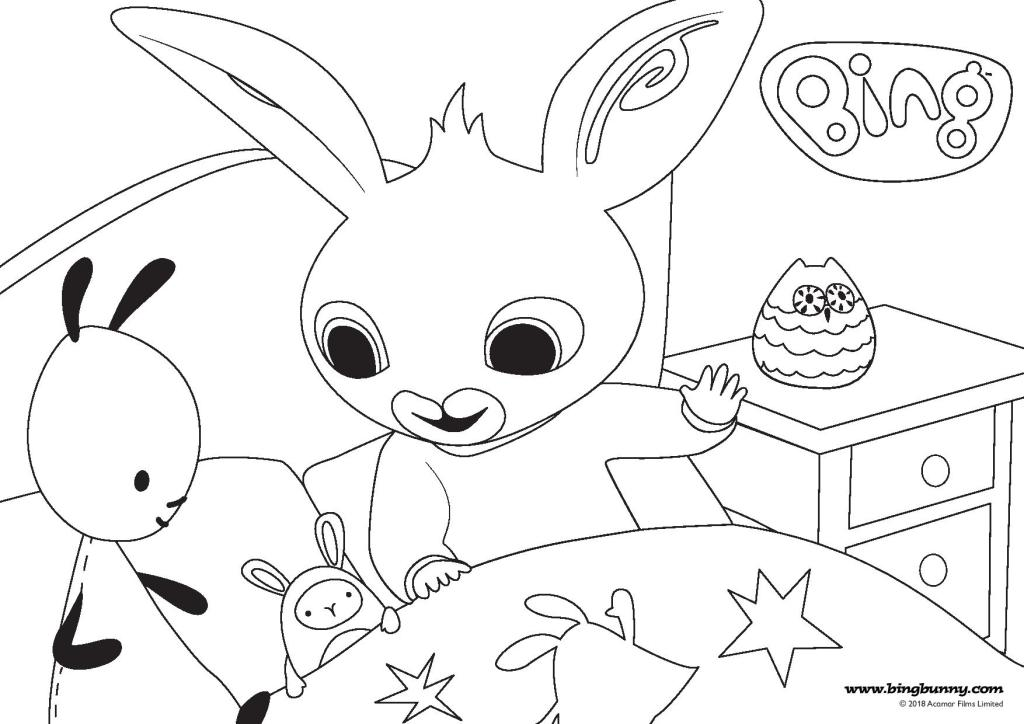 Bing Colouring Pages And Fun At Home In The Playroom