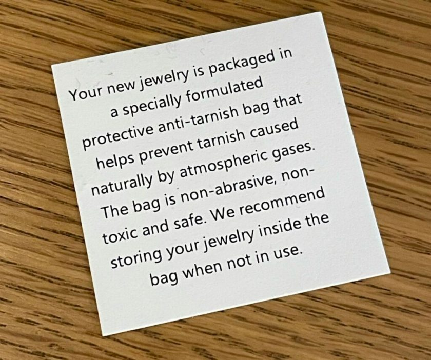 jewellery instructions to keep in good condition