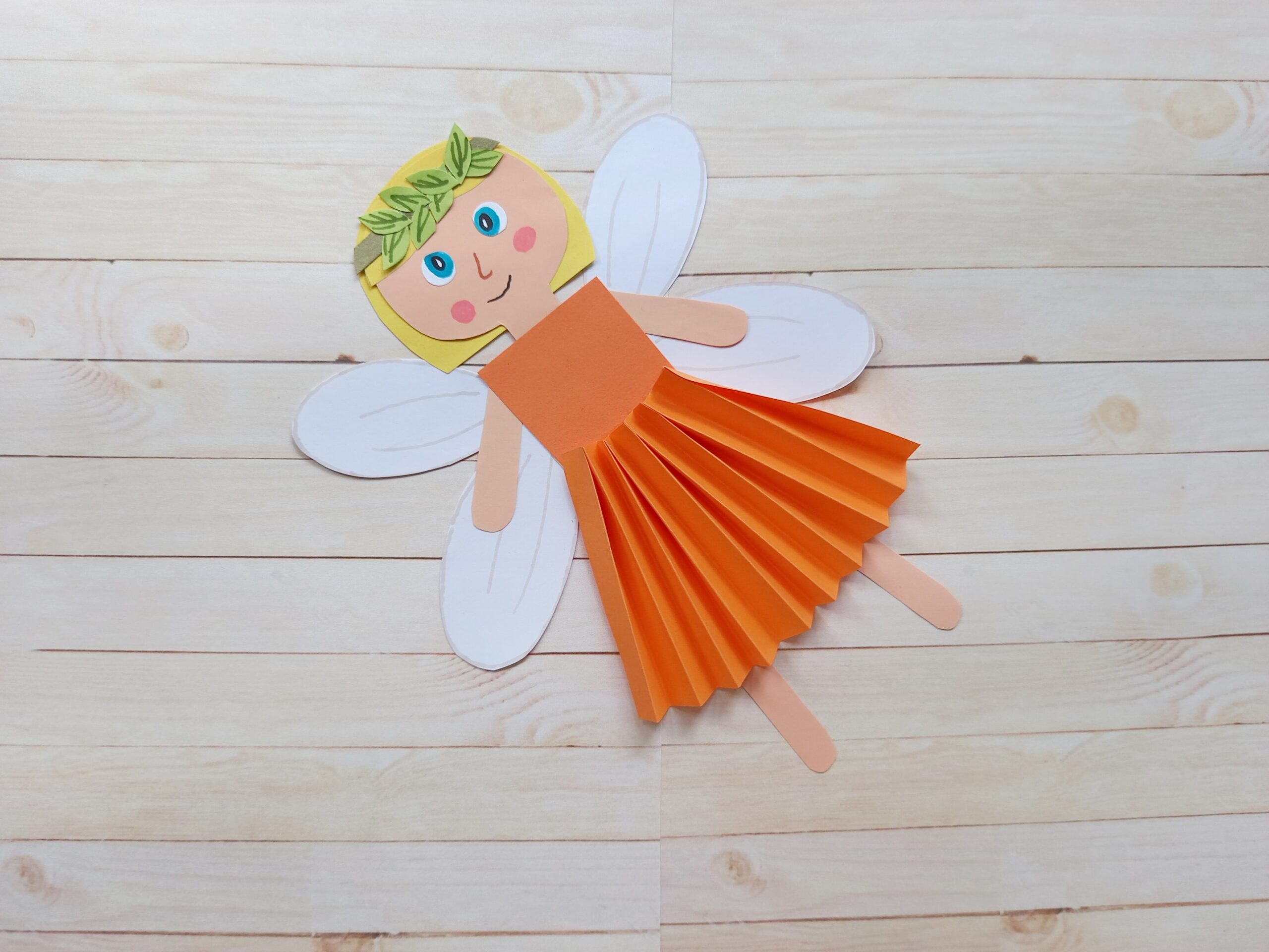 How to Make a Super Cute Fall Fairy Paper Craft with Free Printable Template