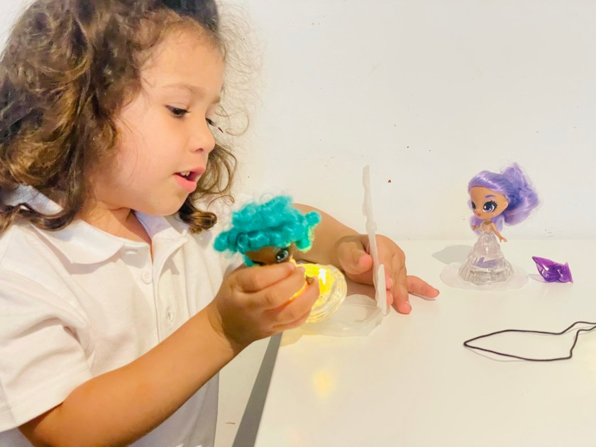 playing with crystalina dolls