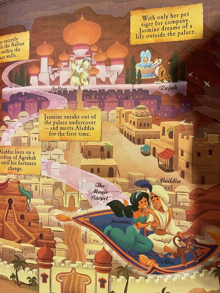Disney book of maps Alladin