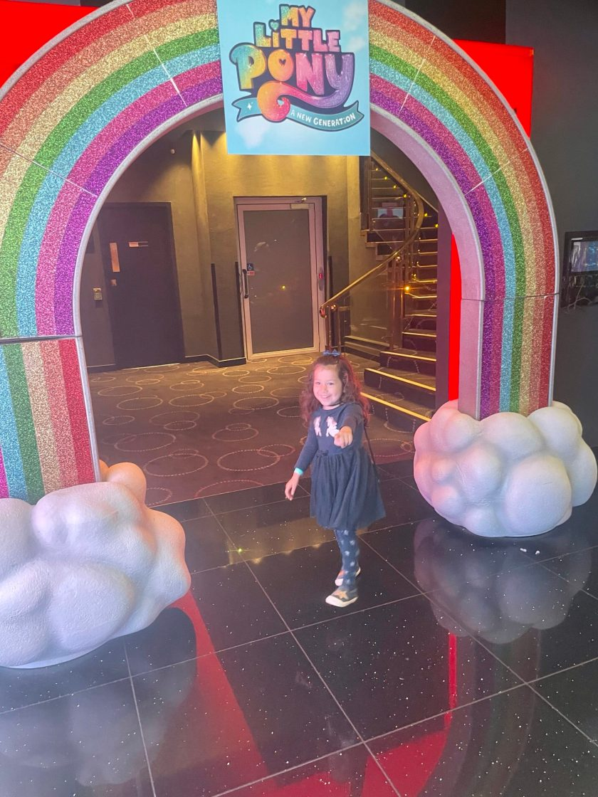 my little pony a new generation premiere uk Leicester Square cineworld rainbow doorway