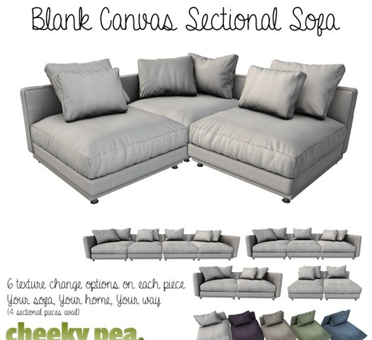 Blank Canvas Sectional Sofa