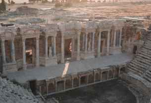 aerial view of ancient ruins