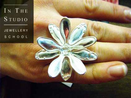 Argentium Silver floral ring