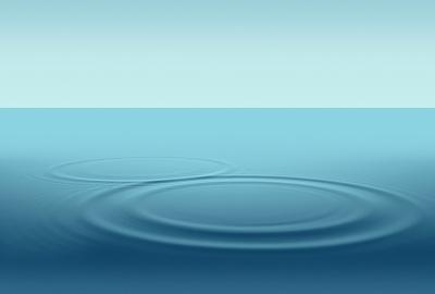 水面に波紋
