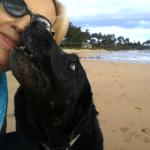 Lexi Dogg giving Rox a kiss