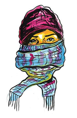 Dana Scarfface - illustration by Dana Paresa