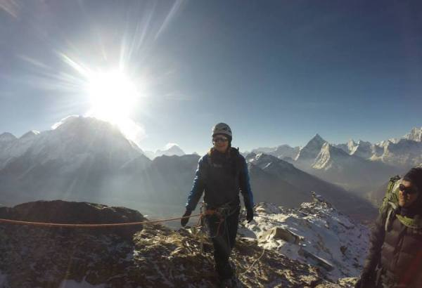 photo of Karen Diener on Mt Everest