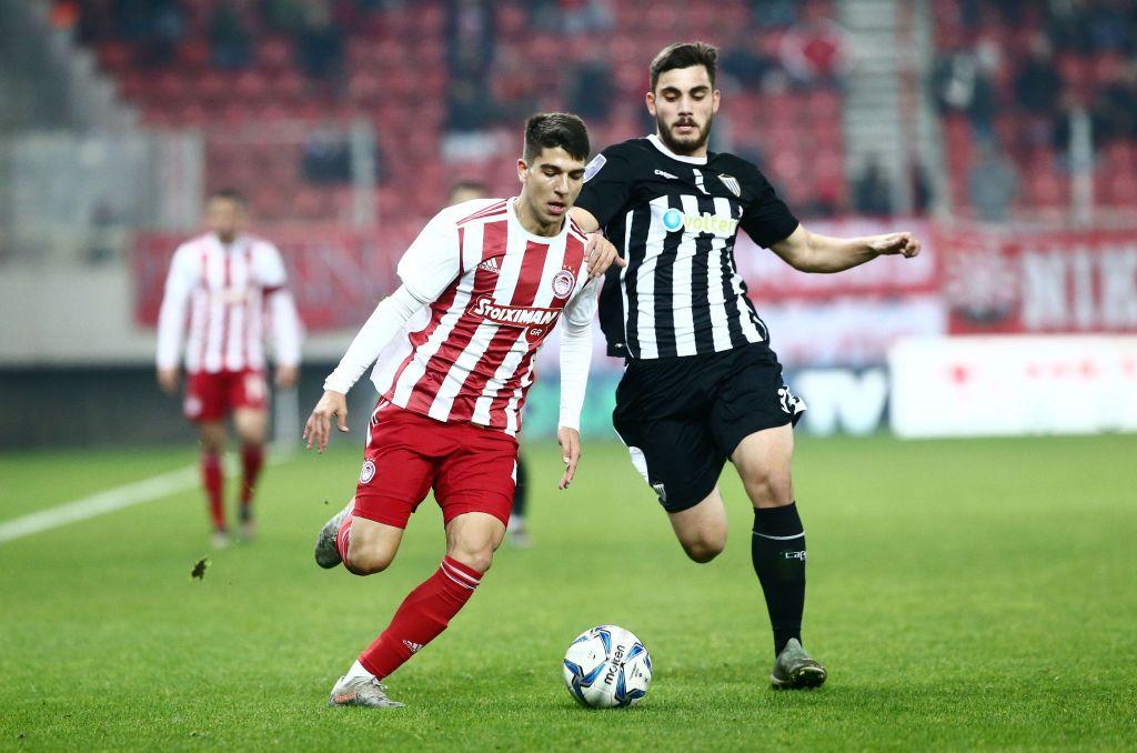 Ο Χρήστος Λιάτσος στον επαναληπτικό αγώνα με την Καλαμάτα για τους ''16'' του Κυπέλλου Ελλάδος, όπου έκανε το ντεμπούτο του!