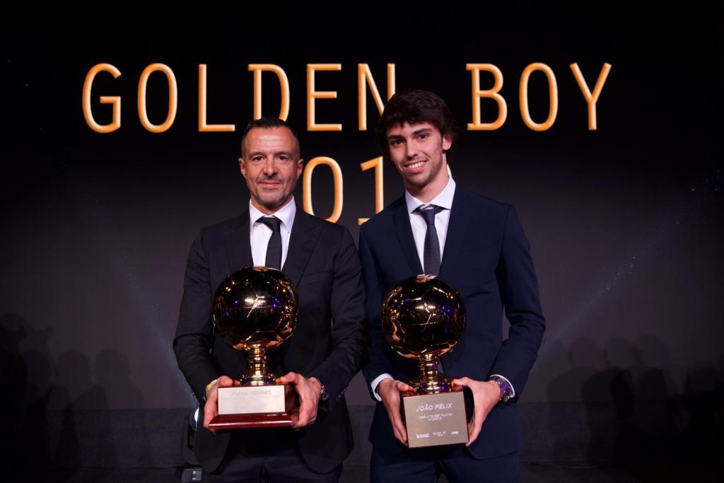 Οι Ζόρζε Μέντες και Ζοάο Φέλιξ με τα βραβεία τους στο Globe Soccer Awards 2019!