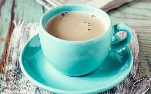 blue coffe cup