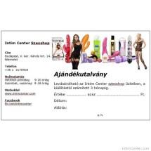 Ajándék vásárlási utalvány többféle értékben – Intim Center szexshop