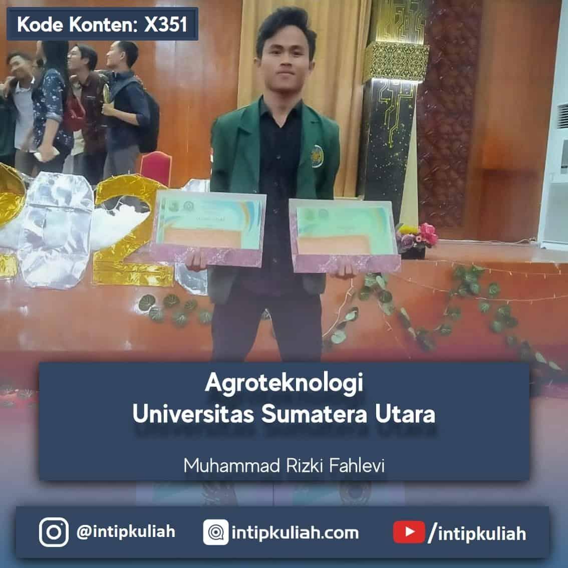 Ada berapa fakultas di usu? Agroteknologi Universitas Sumatera Utara Fahlevi Intip Kuliah