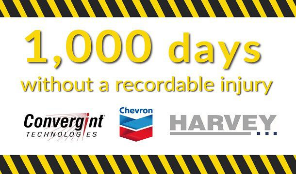 Convergint Technologies 1,000 days without a recordable injury