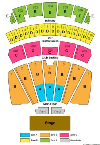 Comerica Theater Seating Chart