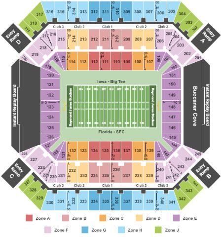 Raymond James Stadium Seating Chart With Rows