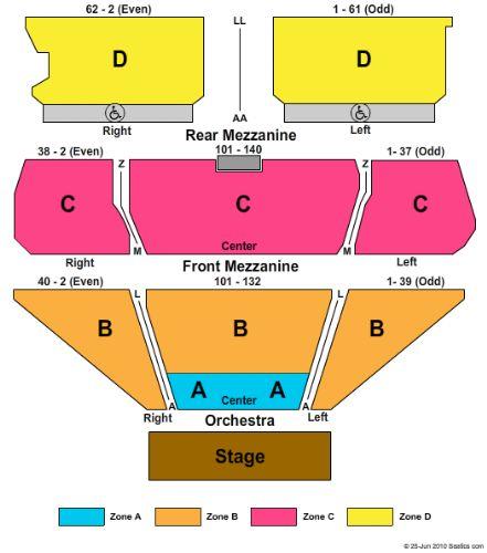 Tropicana showroom seating chart nj