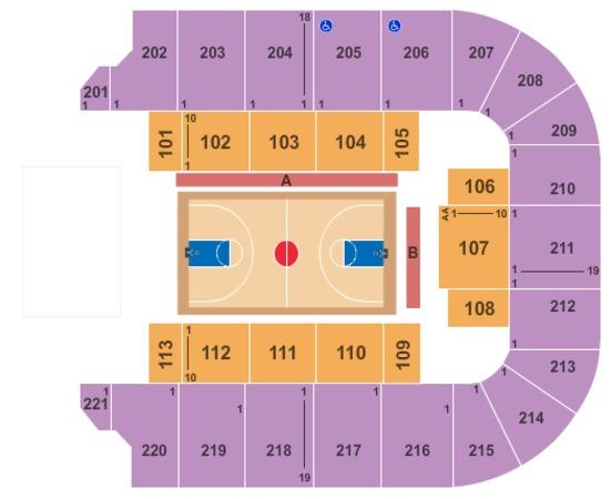 Bancorpsouth Arena Seating Chart