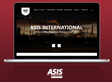 تصميم موقع شركة asis