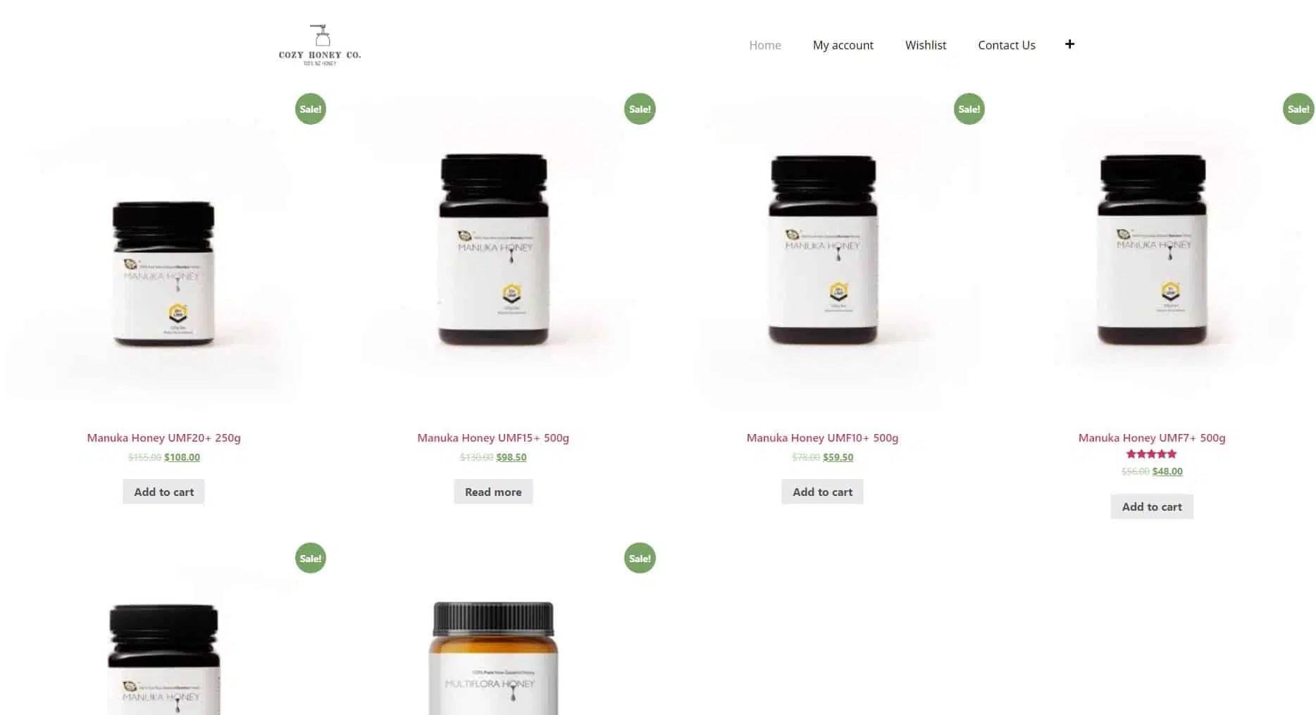 코지허니 로고 디자인 및 웹사이트 구축