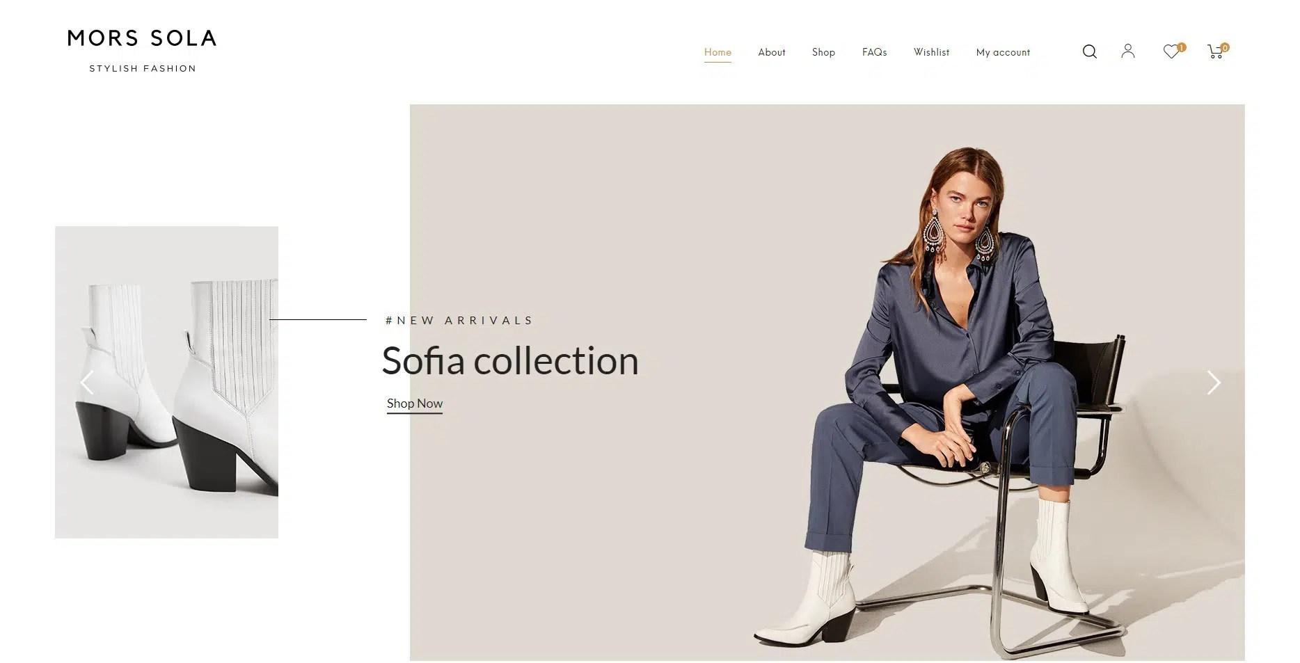 모르스솔라 온라인 쇼핑몰 구축