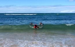 Schwimmen am Coco Beach