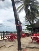Kletterchallenge an Coco Beach