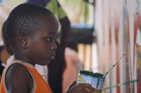 Geburtstagsmalerei - Nachbarjunge Mgwale