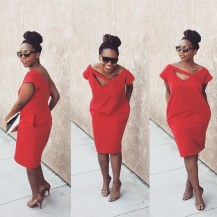 The V-Neck Dress in RED