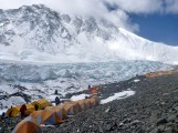 Our camp site at ABC