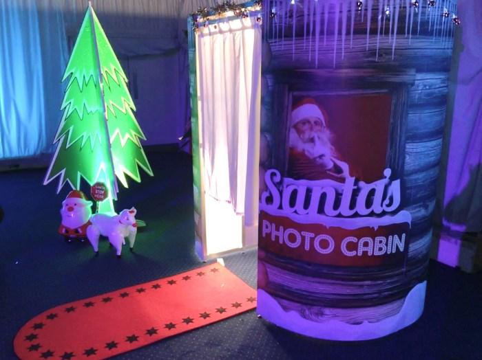 Santa's Christmas Photo Booth Cabin