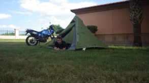 My 1st night in USA and back to camping. Tourist centre Laredo TX.
