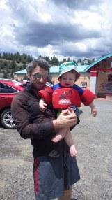 Me and Maverick at Pagosa Springs CO.