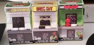 3 mini lego-like machines