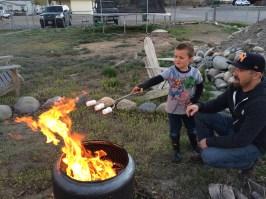 Roasting marshmallows at the Ganskes!