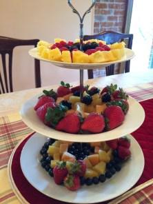 Madeline designed the fruit tray