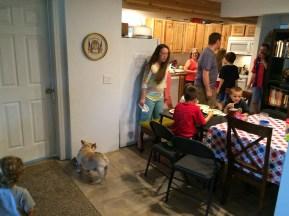 Family dinner. My heart was so full that night.