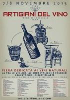 Locandina Artigiani del Vino Roma 7 e 8 novembre 2015