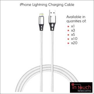 5x Lightning Nylon Braided Charging Cable for iPhone | 1 Metre