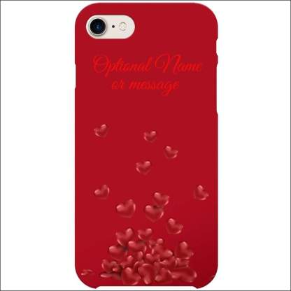 iPhone 8 Case | Valentine Hearts D2 (Optional Name/Message)