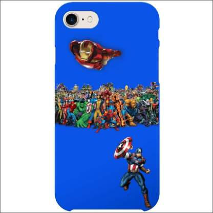 iPhone 8/7 Case - Superheroes | Captain America, Ironman, Marvel (Optional Name)