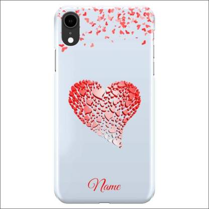 iPhone XR Case | Valentine Hearts D4 (Optional Name/Message)