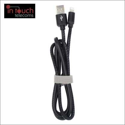 Lightning iPhone Charger - Leather Data Sync Charge Cable for iPhone