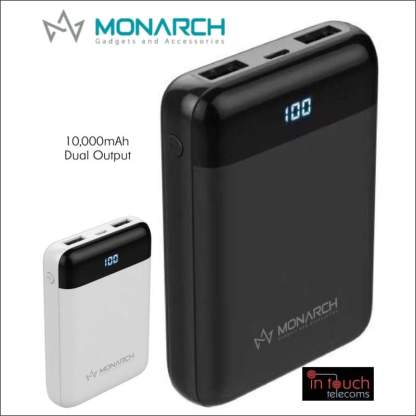 Monarch Gadgets C10 Power Bank with Dual Output 10000mAh Capacity | Fast Charge