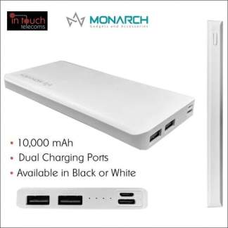 Monarch Gadgets C15 Power Bank with Dual Output 10000mAh Capacity | Fast Charge