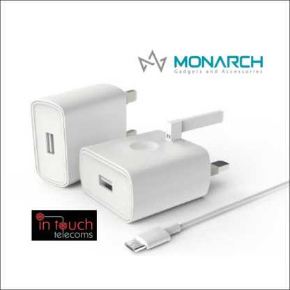 Monarch Gadgets Fast 5V 2A Micro USB Home Charger with 1m Micro USB Cable