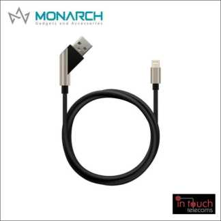 Monarch Gadgets X-Series | Lightning USB Cable - Black