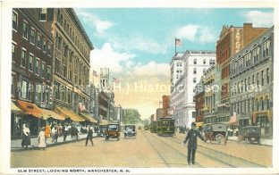 Photo Courtesy of Manchester Historic Association |Elm St. Looking North
