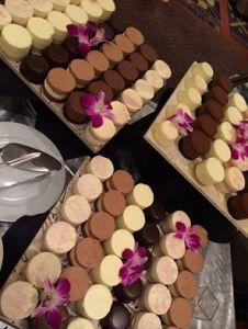 Radisson Hotel - decadent mini cakes